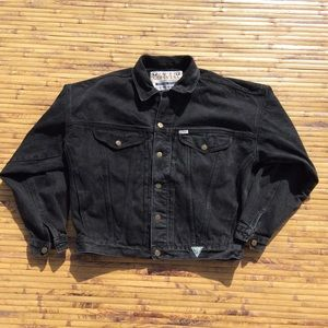 Vintage 80's Guess Jean Jacket Mens L